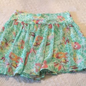 Gap Womans Floral Print/Green Mini Skirt Size 6